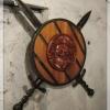 №003 Кованые мечи со щитом