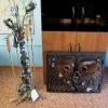 №007 Кованые аксессуары для камина (каминный набор и защитный экран)