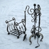 №040 Кованые аксессуары для камина(дровница и набор предметов) Домодедово