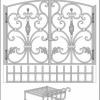 №041 Эскиз кованых дверок для камина