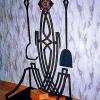 №055 Кованый каминный набор с дровницей Коломна
