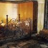 №065 Кованый экран для камина с дровницей Люберцы
