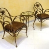 №014 Кованое кресло со столиком