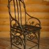 №033 Кованый стул с подлокотниками