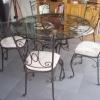 №056 Стулья с кованым столом