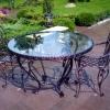 №060 Кованый стол со стульями