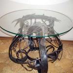 Арт №005 Кованый стол с круглой столешницей