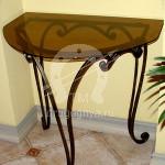 Арт №007 Кованый консольный столик