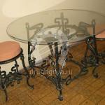 Арт №011 Набор кованой мебели Стол с табуретами