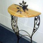 Арт №022 Консольный стол с деревянной столешницей