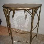 Арт №025 Кованый  консольный стол с эмитацией бамбука