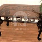 Арт №035 Кованый стол с прямоугольной столешницей