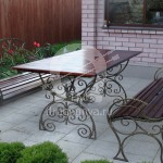 Арт №046 Уличный стол с лавочками