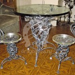 Арт №048 Кованый стол с табуретами Модерн