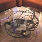 Арт №062 Журнальный кованый столик ручной работы