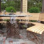 Арт №067 Кованая мебель для беседки