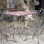 Арт №069 Кованый стол со стульями для ресторана