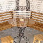 Арт №070 Кованый стол с лавочками