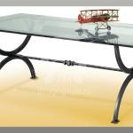 Арт №075 Эскиз кованого стола со стеклянной столешницей