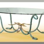 Арт №076 Эскиз кованого стола с овальной столешницей