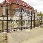 №028 Кованый забор с воротами