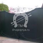 Арт №107 Глухие кованые ворота