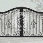 Арт №192 Эскиз кованых ворот