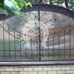 №013 Кованый забор с поликарбонатом