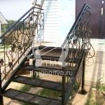 Арт №077 Кованая лестница для дачи