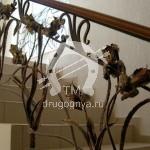 Арт №095 Кованая лестница для коттеджей