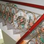 Арт №082 Кованая лестница маршевая