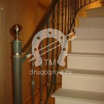 Арт №078 Кованая лестница в частном доме