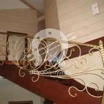 Арт №029 Кованая лестница на второй этаж