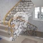 Арт №024 Кованая лестница в стиле модерн