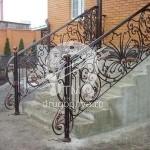 Арт №036 Уличная кованая лестница