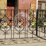 Арт №005 Ритуальная оградка с элементами ковки