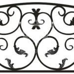 Арт №047 Эскиз кованой ритуальной оградки