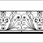 Арт №133 Балконное ограждение эскиз