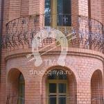 Арт №020 Радиусный кованый балкон