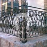 Арт №018 Кованый балкон с виноградной лозой