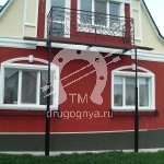Арт №007 Кованый балкон Железнодорожный