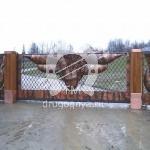 Арт №015 Откатные кованые ворота
