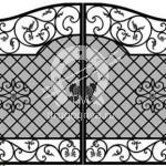 Арт №191 Эскиз кованых ворот