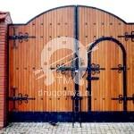 Арт №006 Ворота с коваными элементами